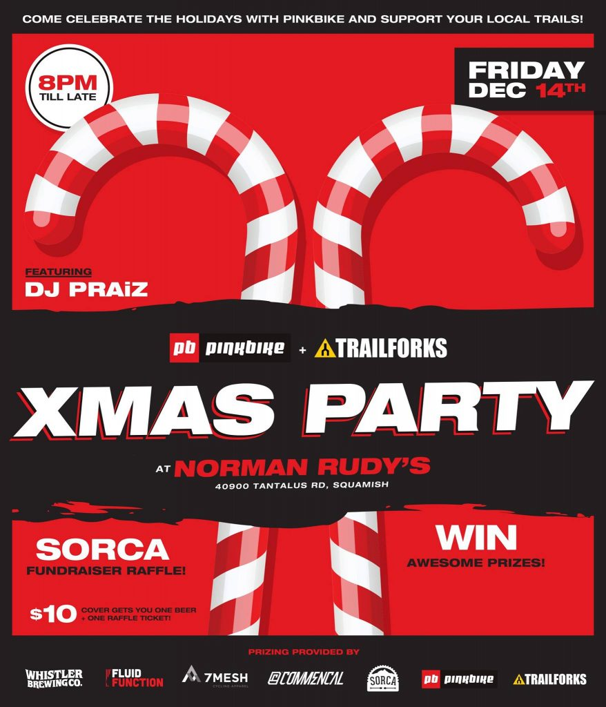 Pinkbike Xmas Party Flyer